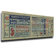 That's My Ticket New York Yankees 1938 World Series Canvas Mega Ticket