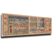 That's My Ticket New York Yankees 1939 World Series Canvas Mega Ticket