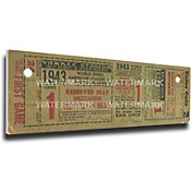 That's My Ticket New York Yankees 1943 World Series Canvas Mega Ticket
