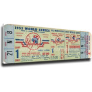 That's My Ticket New York Yankees 1953 World Series Canvas Mega Ticket