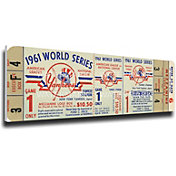 That's My Ticket New York Yankees 1961 World Series Canvas Mega Ticket