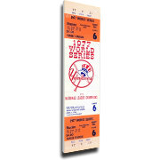 That's My Ticket New York Yankees 1977 World Series Canvas Mega Ticket