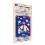 That's My Ticket 1974 NBA All-Star Game Canvas Ticket