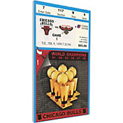 That's My Ticket Chicago Bulls 1999 Banner Raising Ceremony Canvas Ticket