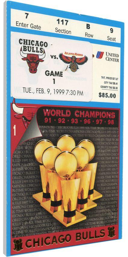 That's My Ticket Chicago Bulls 1999 Banner Raising Ceremony Canvas Ticket