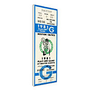 That's My Ticket Boston Celtics 1981 NBA Championship Canvas Ticket