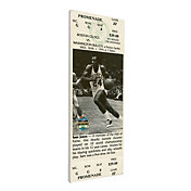 That's My Ticket Boston Celtics Sam Jones Retirement Canvas Ticket