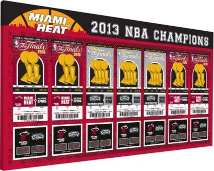 That's My Ticket Miami Heat 2013 NBA Finals Tickets Canvas Print