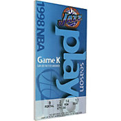 That's My Ticket Utah Jazz 1998 NBA Finals Game 6 Canvas Ticket