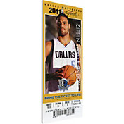 That's My Ticket Dallas Mavericks 2011 NBA Finals Game 4 Canvas Ticket