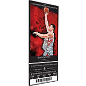 That's My Ticket Houston Rockets Yao Ming Artist Series Canvas Ticket