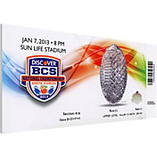 That's My Ticket Alabama Crimson Tide 2013 BCS National Championship Canvas Mega Ticket