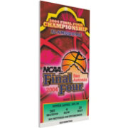 That's My Ticket UConn Huskies 2004 NCAA Final Four Canvas Mega Ticket