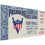 That's My Ticket Georgia Bulldogs 1943 Rose Bowl Canvas Mega Ticket