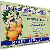 That's My Ticket Georgia Tech Yellow Jackets 1940 Orange Bowl Canvas Mega Ticket
