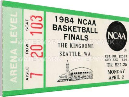Thats My Ticket Georgetown Hoyas 1984 NCAA Basketball Finals Canvas Mega