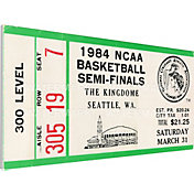 That's My Ticket Georgetown Hoyas 1984 NCAA Basketball Semifinals Canvas Mega Ticket
