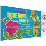 That's My Ticket Ohio State Buckeyes 1969 Rose Bowl Canvas Mega Ticket
