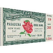 That's My Ticket Illinois Fighting Illini 1947 Rose Bowl Canvas Mega Ticket