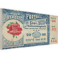 That's My Ticket Michigan Wolverines 1948 Rose Bowl Canvas Mega Ticket