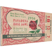 That's My Ticket Michigan State Spartans 1956 Rose Bowl Canvas Mega Ticket