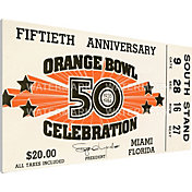 That's My Ticket Miami Hurricanes 1984 Orange Bowl Canvas Mega Ticket