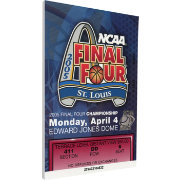 That's My Ticket North Carolina Tar Heels 2005 NCAA Final Four Canvas Mega Ticket