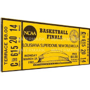 That's My Ticket North Carolina Tar Heels 1982 NCAA Basketball Finals Canvas Mega Ticket