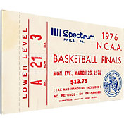 That's My Ticket Indiana Hoosiers 1976 NCAA Basketball Finals Canvas Mega Ticket
