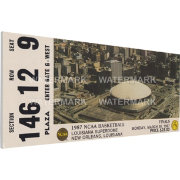 That's My Ticket Indiana Hoosiers 1987 NCAA Basketball Finals Canvas Mega Ticket