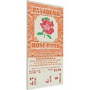 That's My Ticket Northwestern Wildcats 1949 Rose Bowl Canvas Mega Ticket