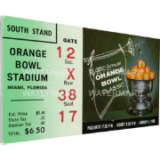 That's My Ticket Penn State Nittany Lions 1969 Orange Bowl Canvas Mega Ticket