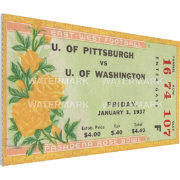 That's My Ticket Pitt Panthers 1937 Rose Bowl Canvas Mega Ticket