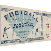That's My Ticket USC Trojans 1945 Rose Bowl Canvas Mega Ticket