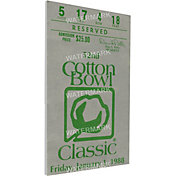 That's My Ticket Texas A&M Aggies 1988 Cotton Bowl Canvas Mega Ticket