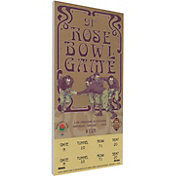 That's My Ticket Texas Longhorns 2005 Rose Bowl Canvas Mega Ticket