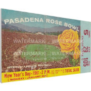 That's My Ticket Washington Huskies 1961 Rose Bowl Canvas Mega Ticket