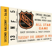 That's My Ticket 1974 NHL All-Star Game Ticket