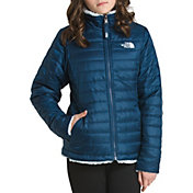 765245015057 Product Image · The North Face Girls  Reversible Mossbud Swirl Insulated  Jacket
