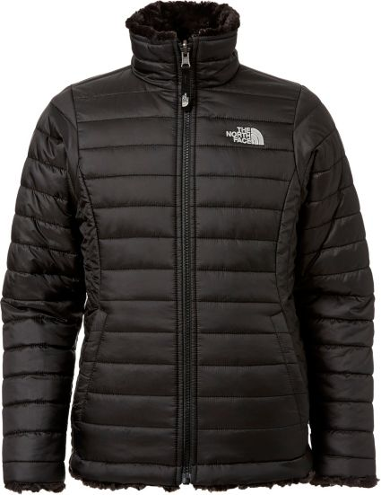 ac9e36261 The North Face Girls' Reversible Mossbud Swirl Insulated Jacket ...