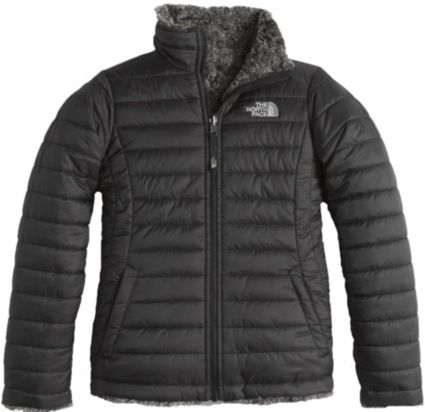 The North Face Girls' Reversible Mossbud Swirl Insulated Jacket