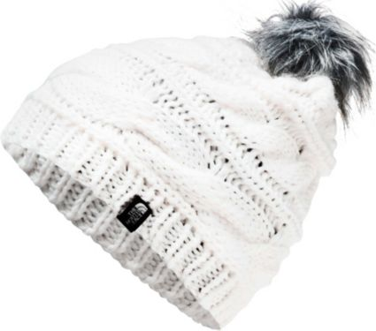 The North Face Women s Triple Cable Fur Pom Beanie  261fbc9791b