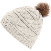 The North Face Women s Triple Cable Fur Pom Beanie  17be07d9f9b