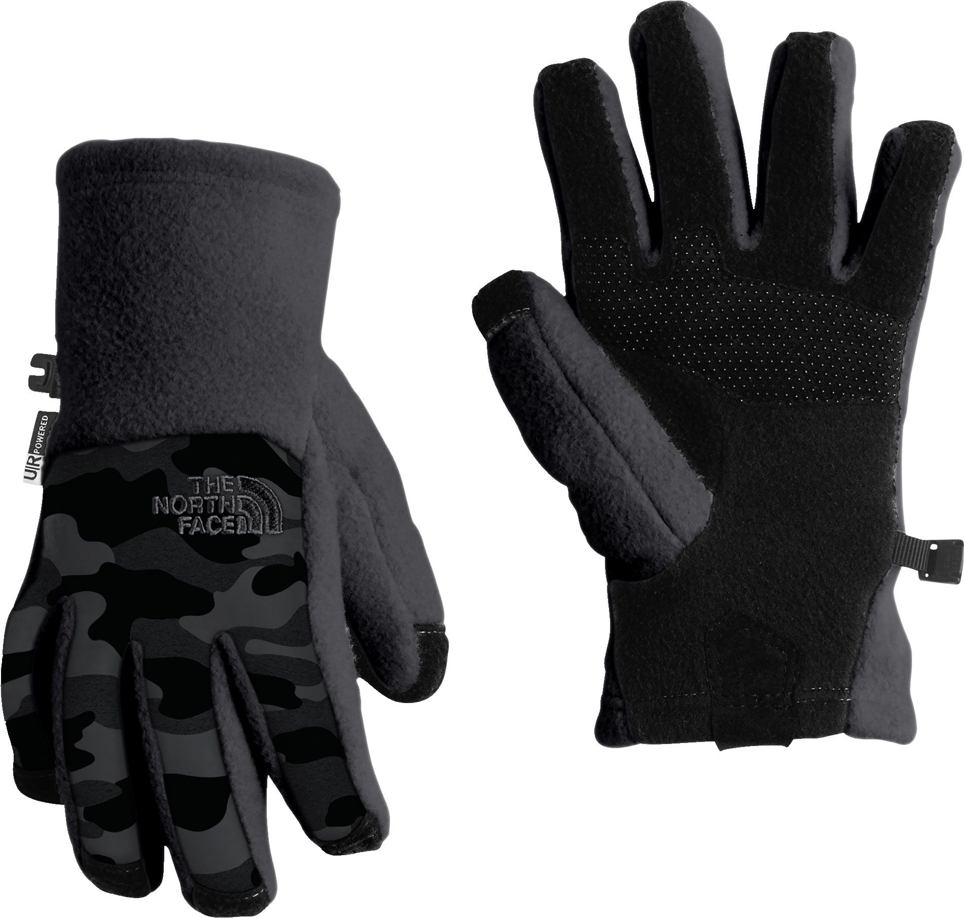 The North Face Youth Denali Etip Gloves, Kids Unisex, Size: Medium, Graphte Gry Camo Hthrprnt thumbnail