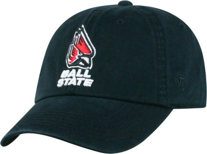 Top of the World Men s Ball State Cardinals Black Crew Adjustable ... 5a06719725d