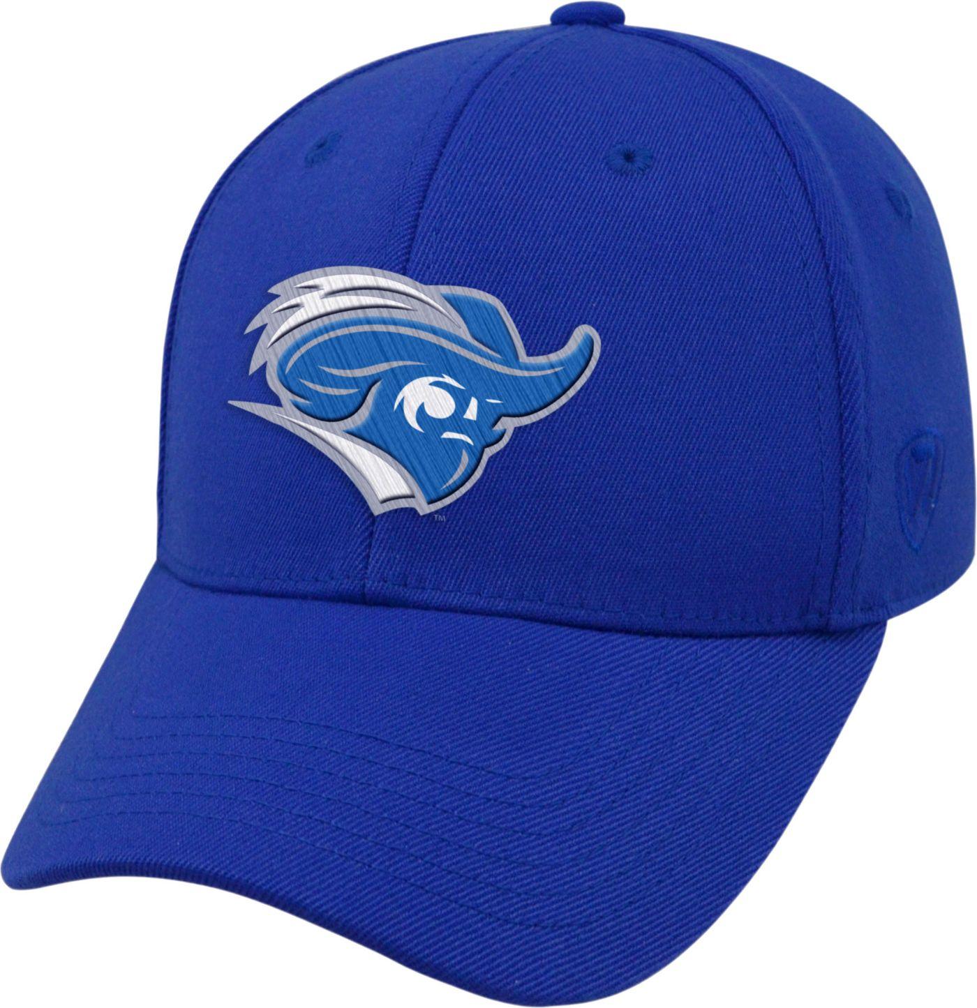 Top of the World Men's Christopher Newport Captains Royal Blue Premium Collection M-Fit Hat