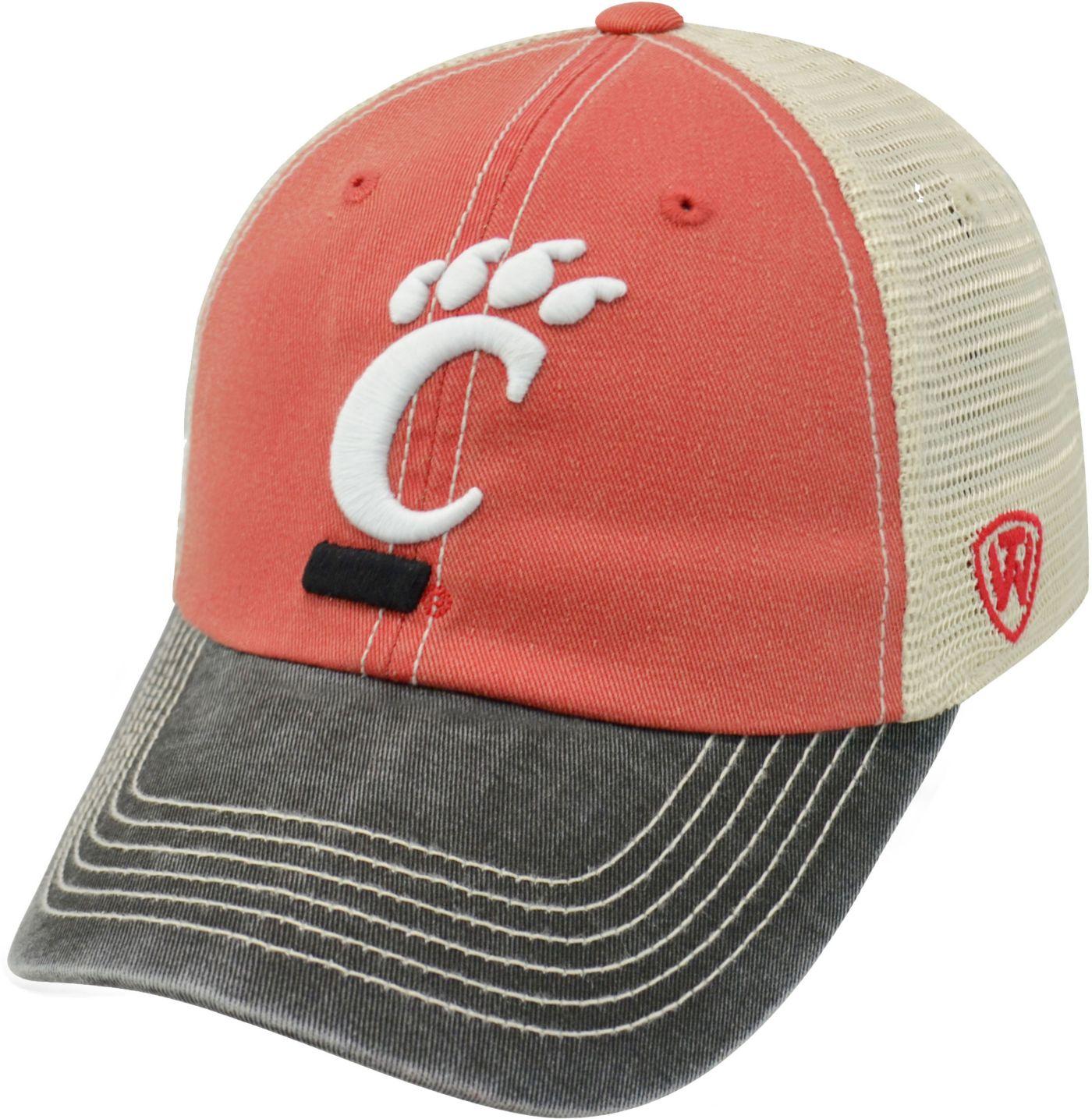 Top of the World Men's Cincinnati Bearcats Red/White/Black Off Road Adjustable Hat