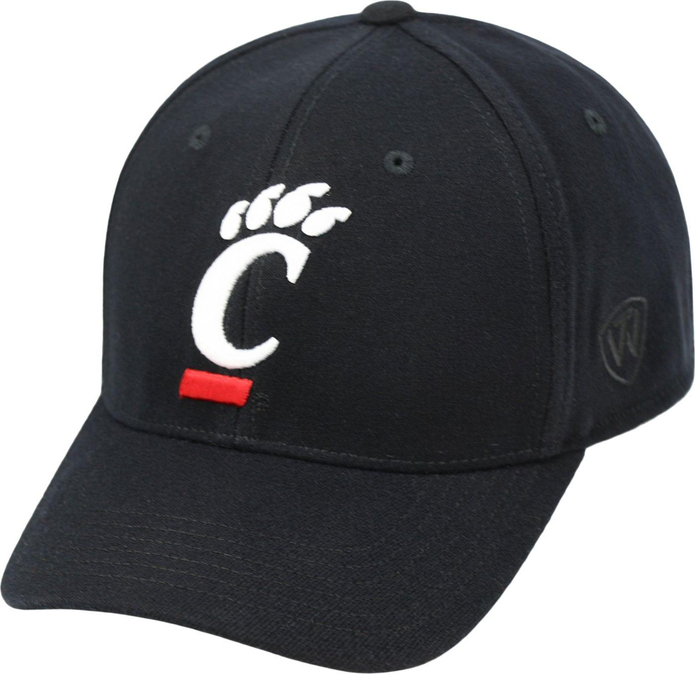Top of the World Men's Cincinnati Bearcats Black Premium Collection M-Fit Hat