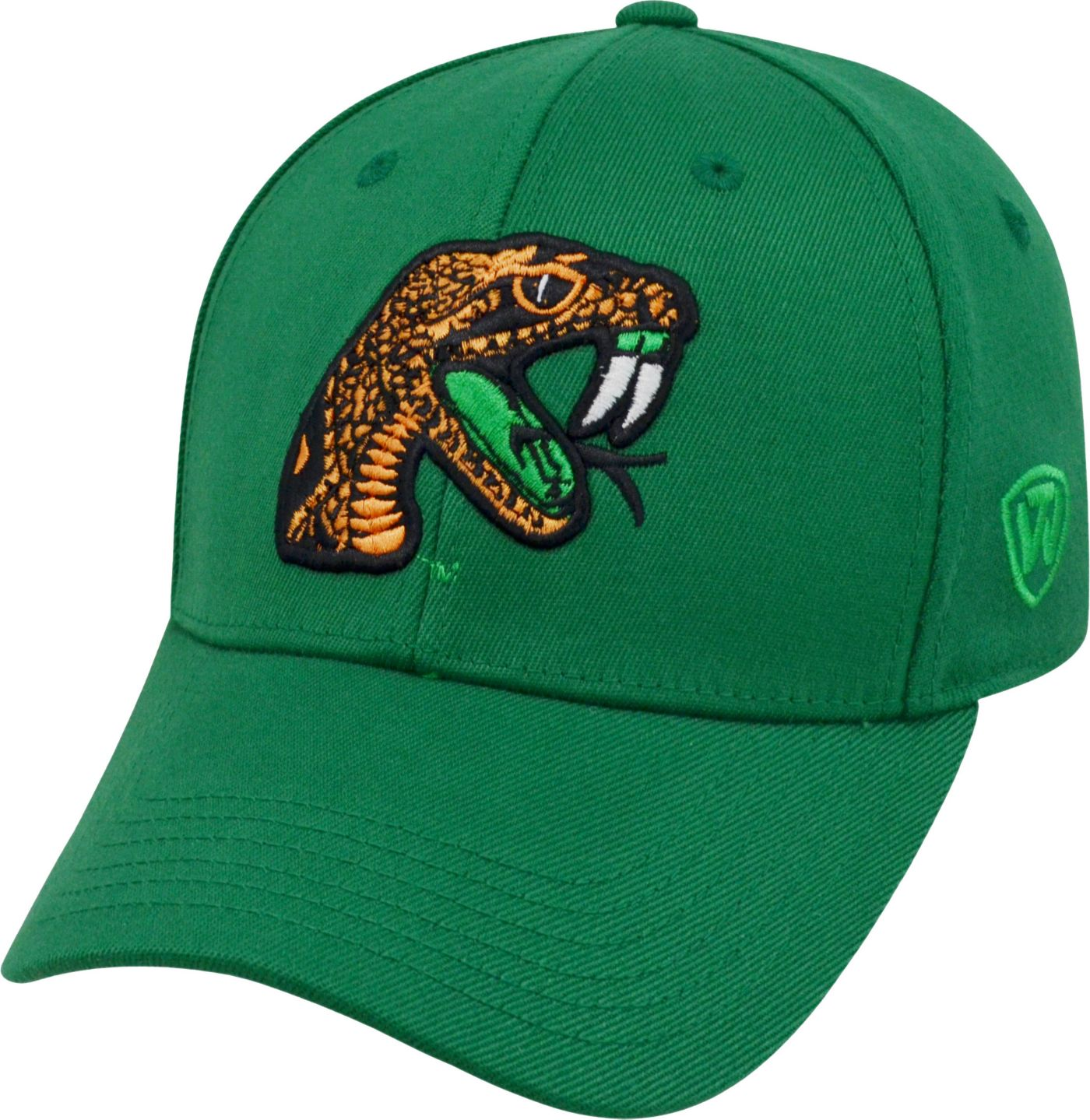 Top of the World Men's Florida A&M Rattlers Green Premium Collection M-Fit Hat