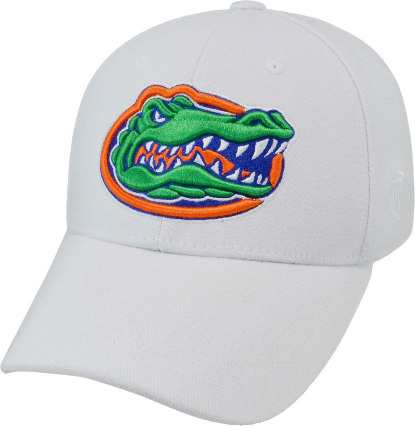 Top of the World Men's Florida Gators White Premium Collection M-Fit Hat